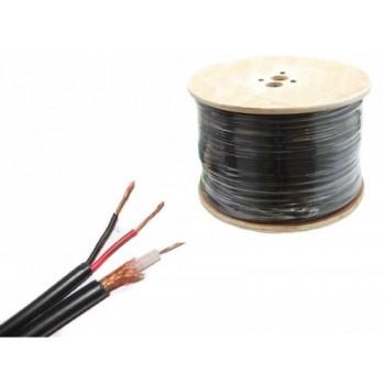 RG59 coax kabel met met voedingsaders, 250meter. Professionele kwaliteit
