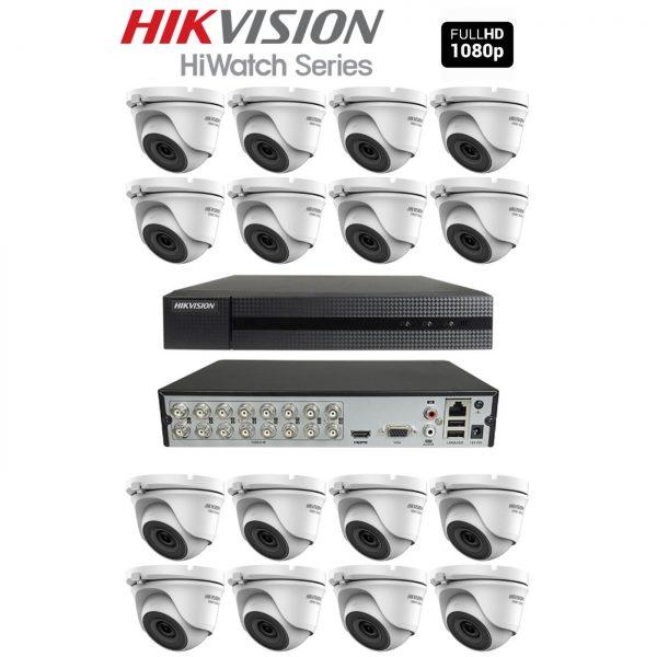 2 Megapixel Complete Full HD Set Van 16 Dome's + 2TB