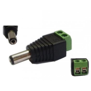 Female DC Schroefconnector, 5.5 x 2.1mm