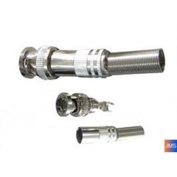 BNC soldeer connector met veer voor de RG59 kabel. Per Stuk