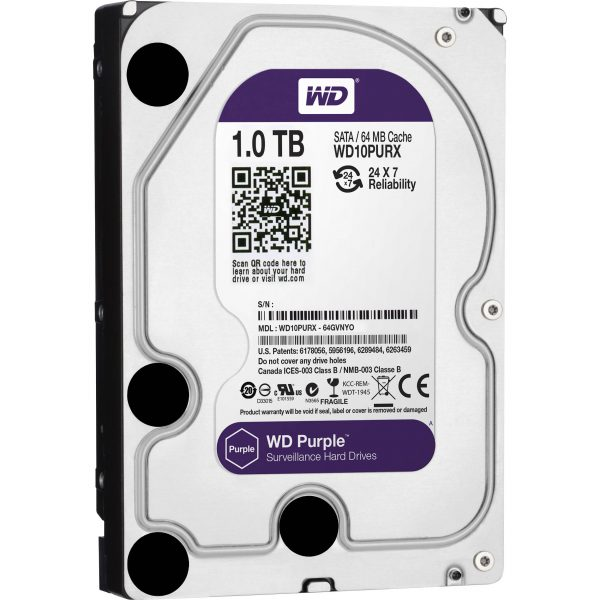 WD Purple Surveillance Harde Schijven 3,5″ SATA