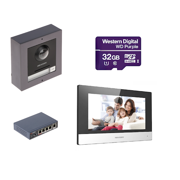 Complete IP video intercom set