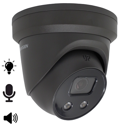 Hikvision, DS-2CD2386G2-ISU/SL/B, 8MP/4K Camera met microfoon en speaker, 30m IR, WDR, Ultra Low Light